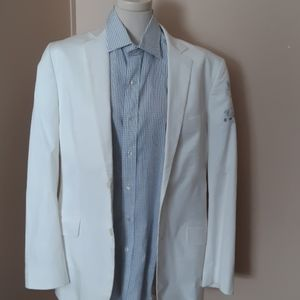 Express Men's White BLazer Suze 40R